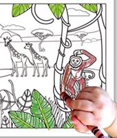 Colorier la fresque savane