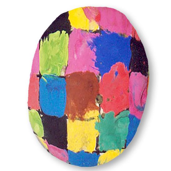 Peindre un galet Elmer