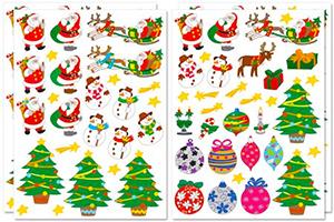 57 gommettes de Noël