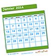 Découper les grilles calendrier 2014