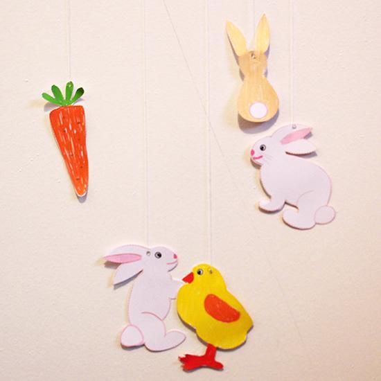 Guirlande de Pâques à colorier
