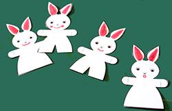 Colorier les bouches des lapins