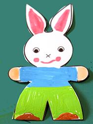 Colorier les habits du lapin