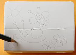 Faire le dessin au crayon à papier