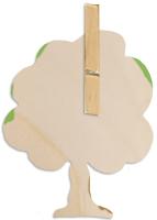 Coller la pince sur le motif en bois