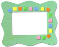 Coller les carrés de mosaique