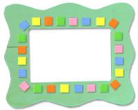 Décorer le cadre photo de mosaïque