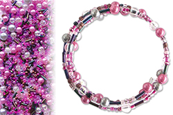 Kit 25 bracelets farandole camaïeu rose