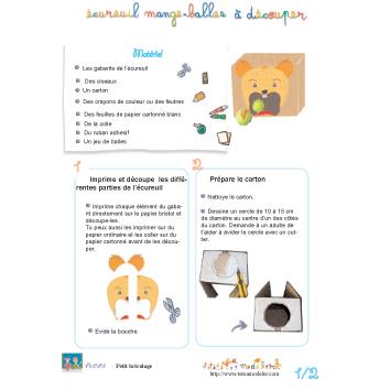 Fabriquer jeu de mange-balles pour jeu d'enfants
