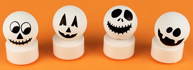 Bougies fantômes d'Halloween
