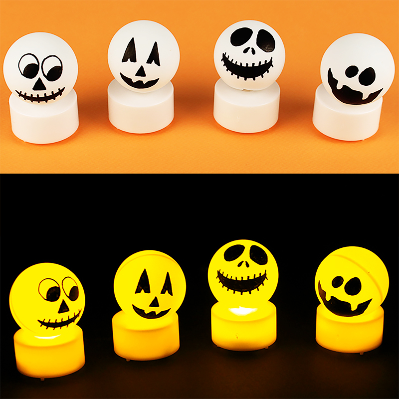 Bougie lampion fantôme d'Halloween