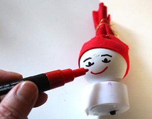 Dessiner le visage du Père Noël