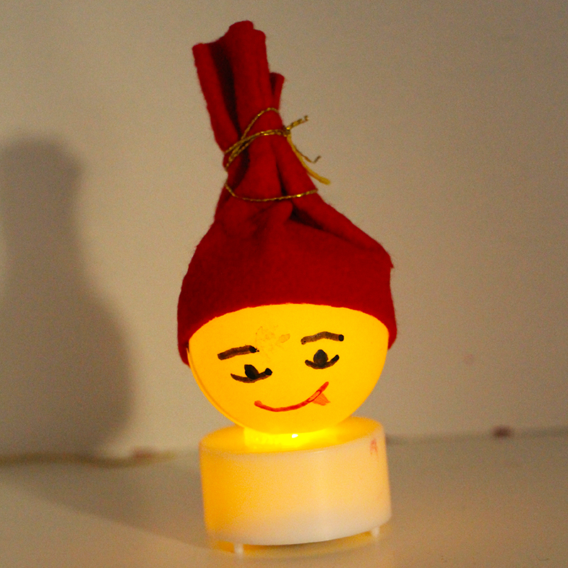 Petit lampion Père Noël de table