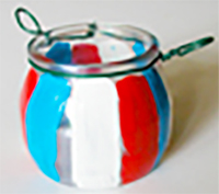 Peindre le lampion aux couleurs de la France