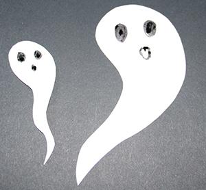 Dessiner et découper les fantômes