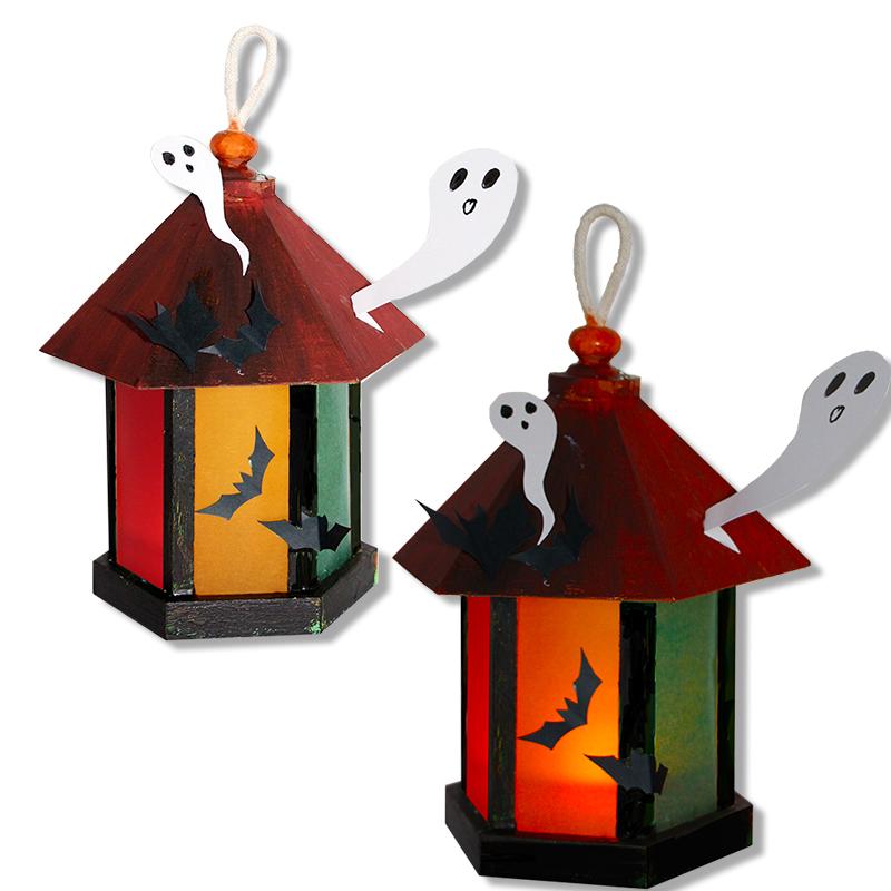 Lanterne d'Halloween aux fantômes