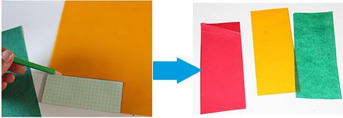 Préparer des rectangles de papier vitrail