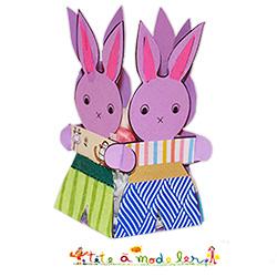 Petit lapin de la corbeille de Pâques