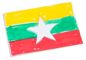 Mini drapeau de la Birmanie