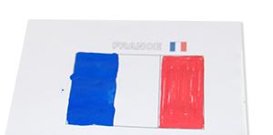 Colorier le drapeau de la France