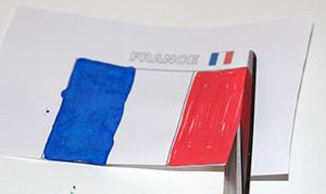 Découper le drapeau de la France