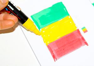 Colorier le drapeau à l'aide du modèle