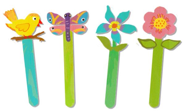 Marque-page fleurs et oiseaux