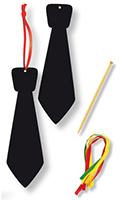 Set de 4 marque-places cravate en carte à gratter
