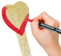 Commencer à peindre le coeur