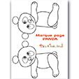 Modèle du panda marque page