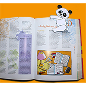 Glisser le marque page panda sur une page