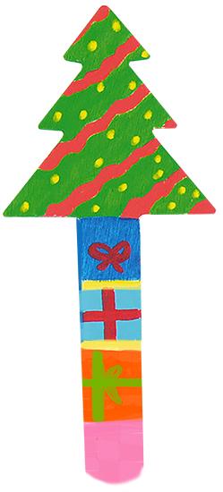 Marque page de Noël : sapin de Noël