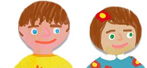 Dessiner les visages des enfants sur les marque-pages