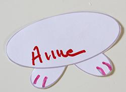 Description : Ecrire le prénom sur le ventre du lapin