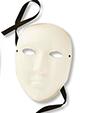 Masque en papier comprimé