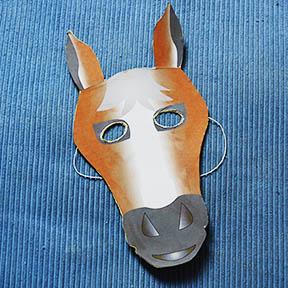 Masque de cheval bricolage carnaval t te modeler - Tete de cheval a imprimer ...