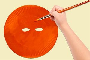 Peindre le masque citrouille