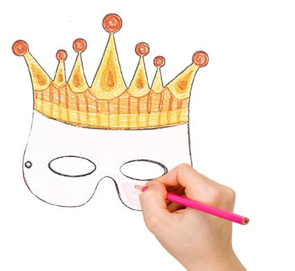 Colorier le masque couronne