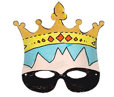 Colorier un masque couronne garçon