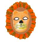 Masque de lion à crinière