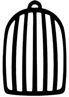 Cage avec peinture magnétique