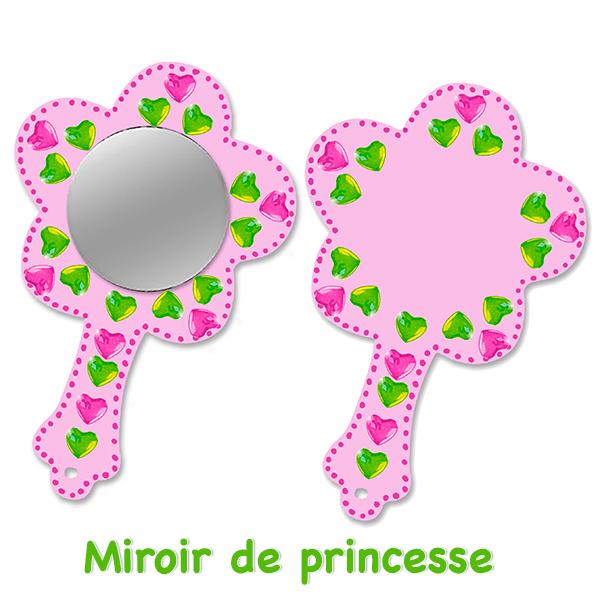 Miroir de princesse fleur décoré de strass