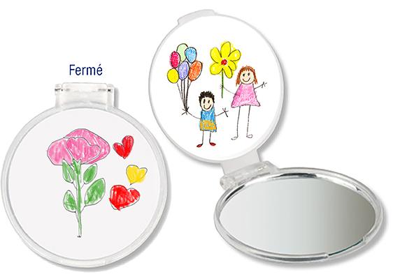 Miroir de sac personnalis miroir t te modeler for Decouper un miroir