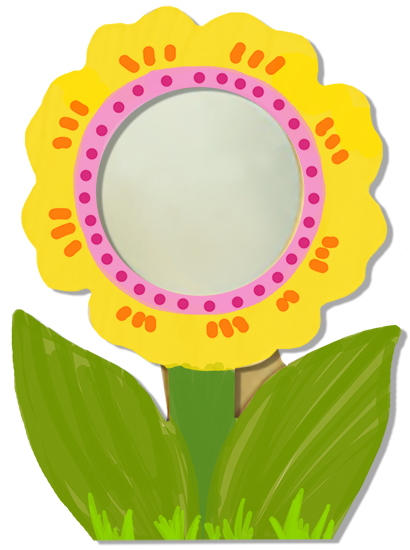 Miroir fleur marguerite