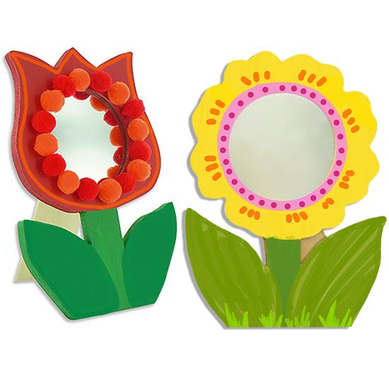 Miroirs marguerite et tulipe