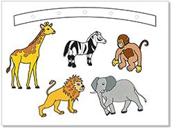 Colorier les animaux de la savane