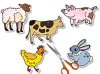 Découper les animaux et le support