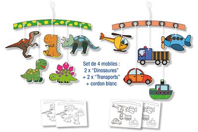 Kits mobiles enfant à colorier