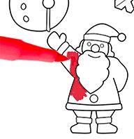 Colorier le motifs de Noël