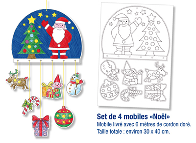 Kit mobile de Noël à colorier